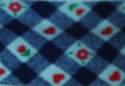 25mm Bias Binding Check with Hearts & Flowers  - 1757