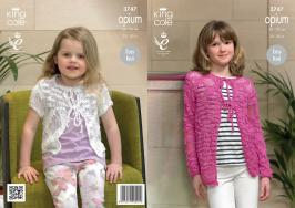 3747 Knitting Pattern Opium - Girls Easy Knit 22 - 30