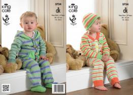3734 Knitting Pattern DK -New Born - 4 Years