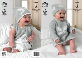 3735 Knitting Pattern DK -New Born - 2 Years*