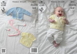 3777 Knitting Pattern DK - Premature - 24 Months