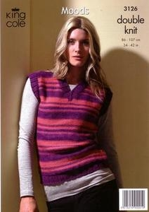 3126 Knitting Pattern - Ladie's DK Moods*