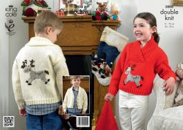 "3806 Knitting Pattern - DK (Childrens - Christmas) 20 - 30""*"