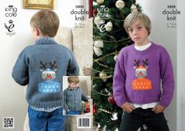 3808 Knitting Pattern - DK (Childrens - Christmas) 20 - 30