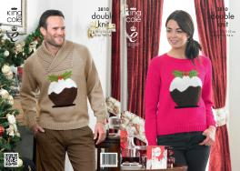 3810 Knitting Pattern - DK (Adult Christmas) 28/30 - 52/54