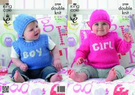 3709 Knitting Pattern - Babies DK 12