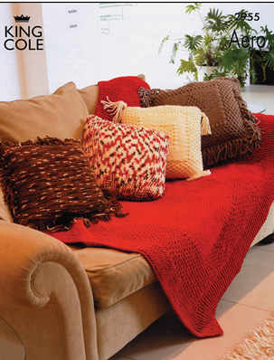 2955 Aero - Knitting Pattern Cushions & Throw*