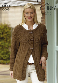 3004 CHUNKY - Knitting Pattern Ladies*
