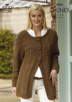 3004 CHUNKY - Knitting Pattern Ladies