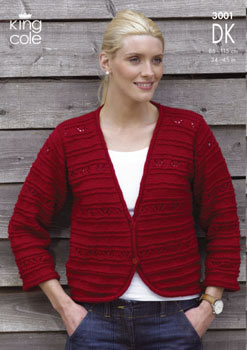 3001 DK - Knitting Pattern - Ladies*