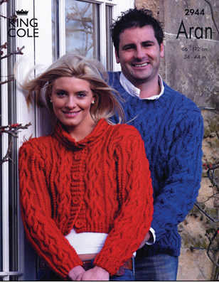 2944 Aran - Knitting Pattern Adults*