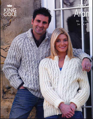 2943 Knitting Pattern - Aran