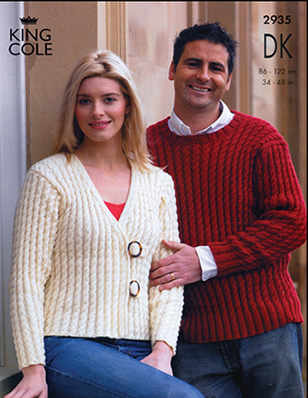 2935 DK - Knitting Pattern Adults*