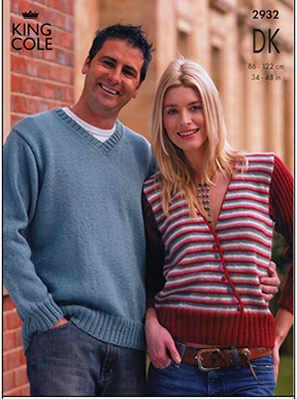 2932 DK - Knitting Pattern Adults*