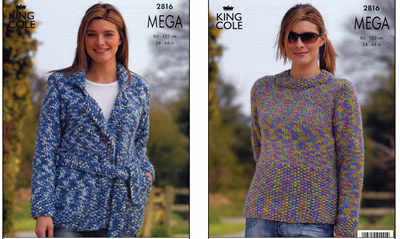 2816 Knitting Pattern - Mega*