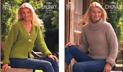 2986 Knitting Pattern - Ladies Chunky*