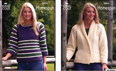 2970 Homespun - Knitting Pattern Ladies*