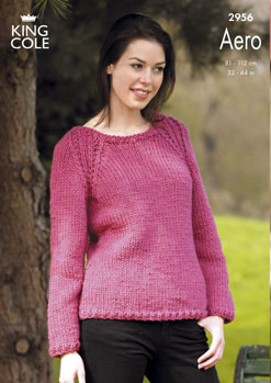 2956 Knitting Pattern - Ladies Aero*