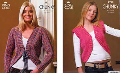 2921 Chunky - Knitting Pattern Ladies*