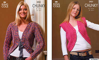 2921 Chunky - Knitting Pattern Ladies*