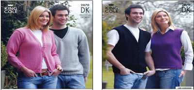 2870 KNITTING PATTERN -MEN'S & WOMENS DK*