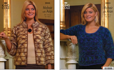 2833 Mohair & Aran - Knitting Pattern