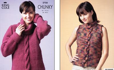 2758 CHUNKY - Knitting Pattern*
