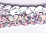 Strung Sequins - Silver Hologram SQ505