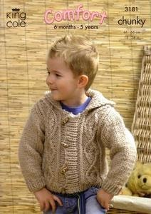 3181 Knitting Pattern - Babies and Children's Comfort Chunky*