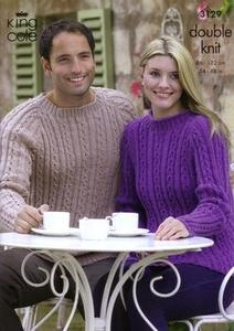 3129 Knitting Pattern - Men's and Ladie's Double Knit*