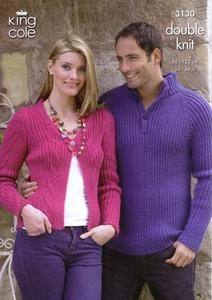 3130 Knitting Pattern - Double Knit