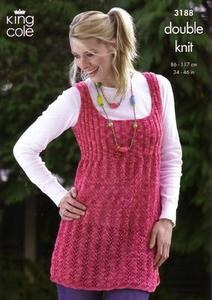 3188 Knitting Pattern - Double Knit - Adult