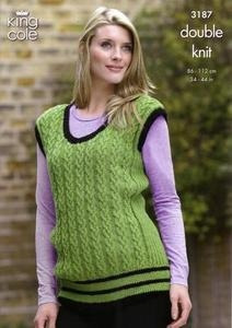 3187 Knitting Pattern - Double Knit - Adult