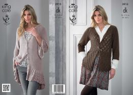 "3913 Knitting pattern - Ladies DK 30"" - 44""*"