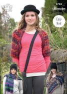3783 Knitting Pattern - Ultimate Chunky One Size Easy Knit Accesssories*
