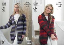 "3825 Knittting Pattern DK - 32-42"" Ladies*"