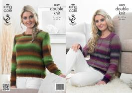 "3829 Knittting Pattern DK - 32-42"" Ladies*"