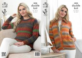 "3828 Knittting Pattern DK - 32-42"" Ladies*"