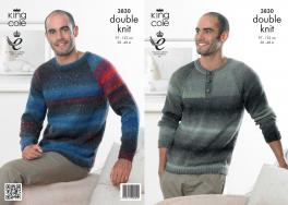 "3830 Knitting Pattern DK - Men's 38-48"" (Country Tweed)*"