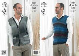 "3831 Knitting Pattern DK - Men's 38-48"" (Country Tweed)*"
