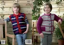 "3822 Knitting Pattern Super Chunky - 26-32"" (5-13 Years)*"
