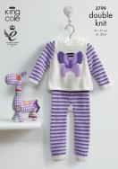 """3799 Knitting Pattern DK - Babies 16"""" - 20""""*"""