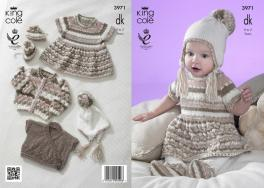 3971 Knitting Pattern in DK - Babies 0 to 2 years