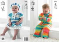 3791 Knitting Pattern - Flash New Born - 12 Months*
