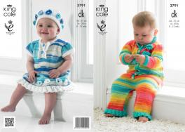 3791 Knitting Pattern - Flash New Born - 12 Months