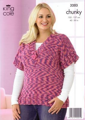 3203 Knitting Pattern - Chunky 40-50