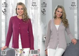 3926 Knitting Pattern - Ladies 4 ply 28/30 -44/46