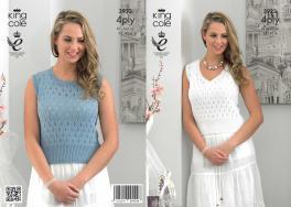 3923 Knitting Pattern - Ladies 4 ply 32 - 42