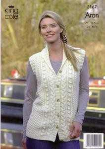 "3167 Knitting Pattern - Aran - Adult 28"" - 46""*"
