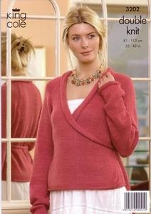 3202 Knitting Pattern - Ladie's Double Knit*